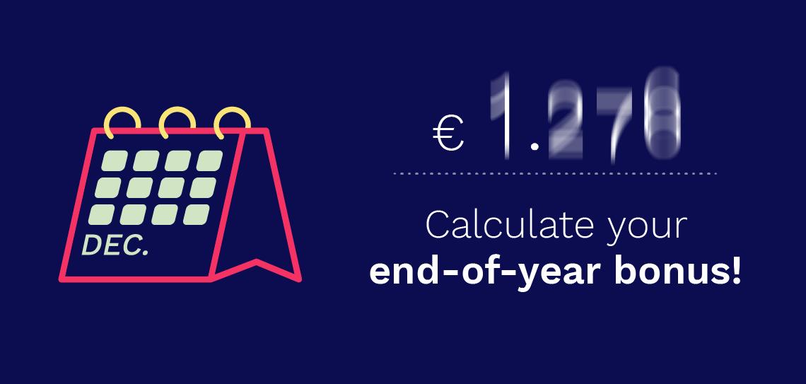 Screen calculation of end-of-year bonus via Bright Plus tool